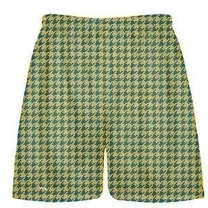 Blue Gold Houndstooth Shorts