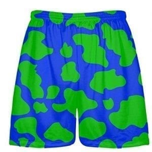 Blue Green Cow Shorts