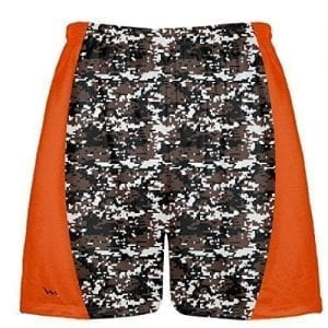 Brown Digital Camouflage Lacrosse Shorts