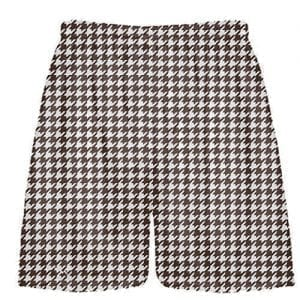 Brown Houndstooth Shorts