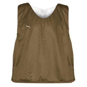 Brown and White Soccer Pinnies