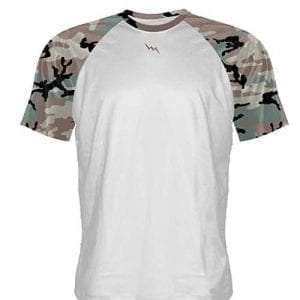 White Camouflage T Shirt