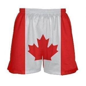 Canada flag shorts