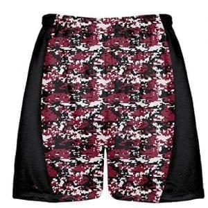 Cardinal Red Digital Camouflage Lacrosse Shorts