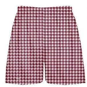Cardinal Red Houndstooth Shorts