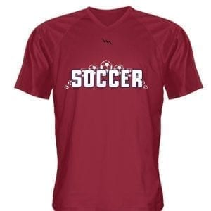 v neck soccer jersey