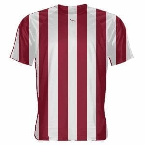 Cardinal-Red-and-White-Soccer-Jerseys-Striped-Soccer-Shirts