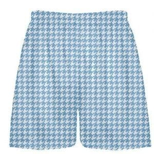 Carolina Blue Houndstooth Shorts