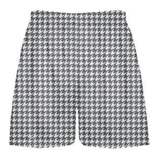 Charcoal Gray Houndstooth Shorts