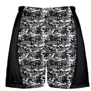 Charcoal Grey Digital Camouflage Lax Shorts