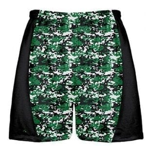 Dark Green Digital Camouflage Lacrosse Shorts