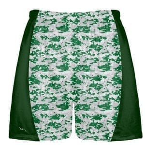 Green Gray Digital Camouflage Lacrosse Shorts