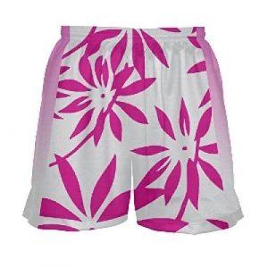 Floral Girls Lacrosse Shorts Pink