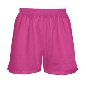 Fluorescent Pink Girls Lacrosse Shorts