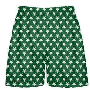 Forest Green White Stars Shorts