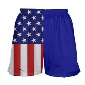 Girls Lacrosse Shorts Stars and Stripes