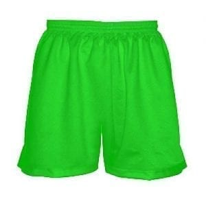 Girls-Neon-Green-Lacrosse-Uniform-Shorts
