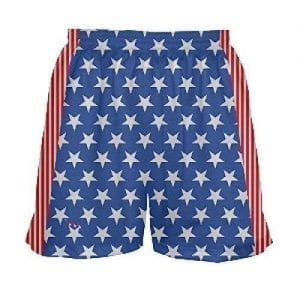 Girls Stars and Stripes Lacrosse Shorts