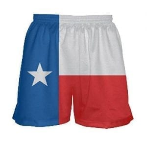Girls Texas Flag Shorts - Lacrosse Shorts