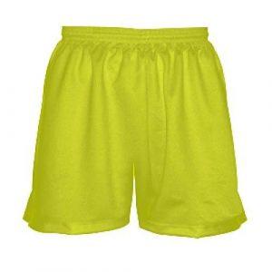 Girls-Yellow-Lacrosse-Shorts-Womens-Gym-Shorts