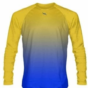 Gold-Blue-Fade-Ombre-Long-Sleeve-Shirts