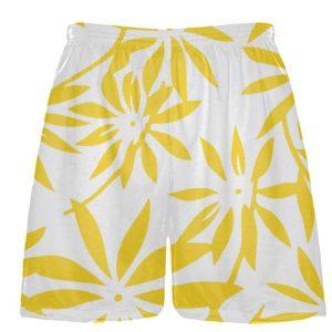 Gold Hawaiian Athletic Shorts