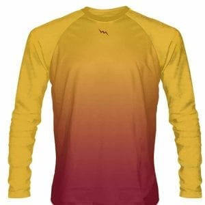 Gold-Maroon-Fade-Ombre-Long-Sleeve-Shirts