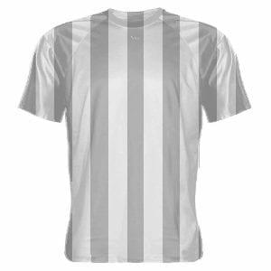 Gray-and-White-Striped-Soccer-Jerseys