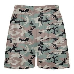 Green Camouflage Lacrosse Shorts