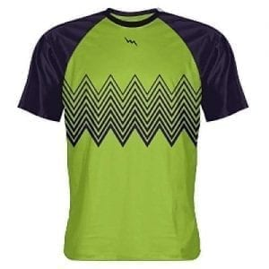 Green Navy Zig Zag Shooting Shirts