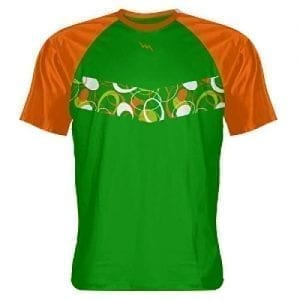 Green Orange Abstract - Kids Lacrosse Shirts