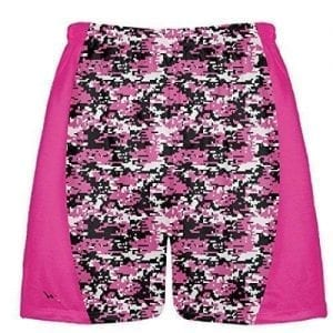 Hot Pink Digital Camouflage Lacrosse Shorts