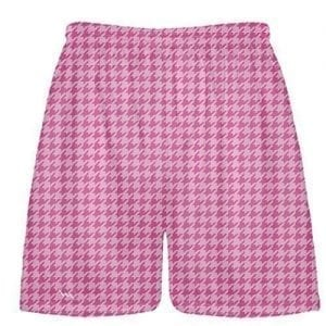 Hot Pink Light Pink Houndstooth Shorts