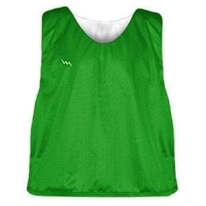 Kelley Green and White Soccer Pinnies