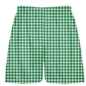 Kelly Green Houndstooth Shorts