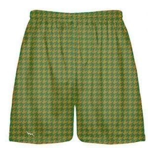 Kelly Green Orange Houndstooth Shorts
