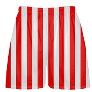 Red White Striped Shorts