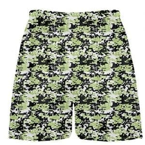 Lime Green Digital Camouflage Lacrosse Shorts