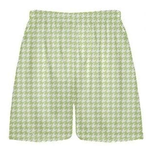 Lime Green Houndstooth Shorts