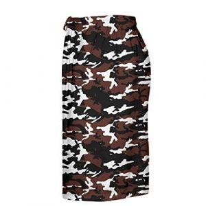 Maroon Camouflage Lacrosse Shorts