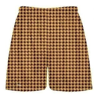 Maroon Gold Houndstooth Shorts