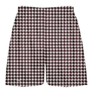 Maroon Houndstooth Shorts
