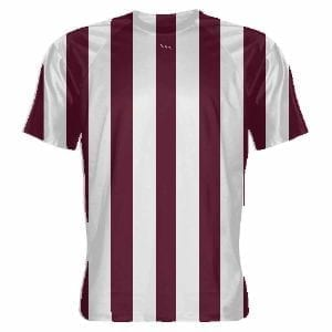Maroon and White Soccer Jerseys