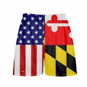 Maryland American Flag Shorts