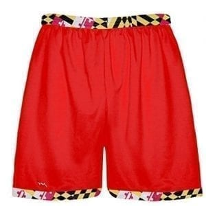 Red Maryland Flag Shorts