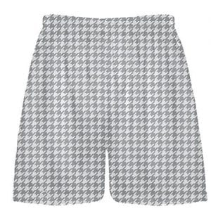 light gray Houndstooth Shorts