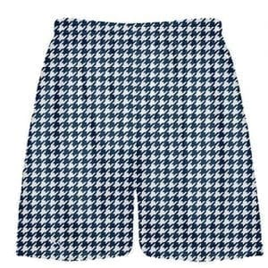 Navy Blue Houndstooth Shorts