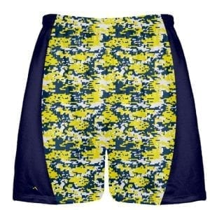 Blue Yellow Digital Camouflage Lacrosse Shorts