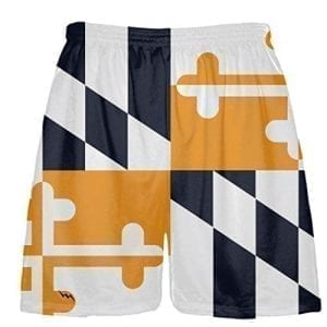 Navy Orange Flag Shorts