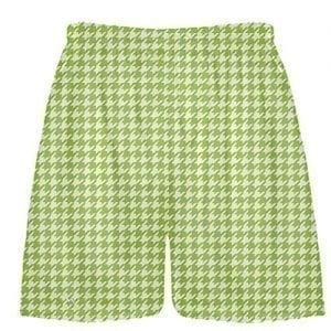 Neon Green Houndstooth Shorts